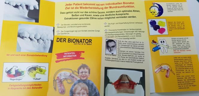 Der Bionator-Patienteninfos, 5o St.